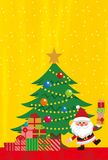 Julbeståndsdelar av guld- bakgrund vektor illustrationer