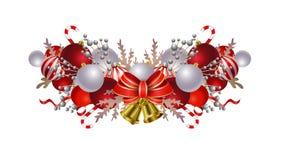 Julbeståndsdelar för dina designer stock illustrationer