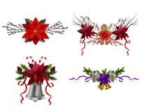 Julbeståndsdelar för dina designer vektor illustrationer