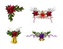 Julbeståndsdelar för dina designer royaltyfri illustrationer