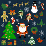Julbeståndsdeluppsättning Fotografering för Bildbyråer