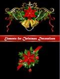 Julbeståndsdelar för dina designer Royaltyfri Foto
