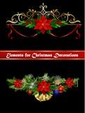 Julbeståndsdelar för dina designer Royaltyfri Fotografi