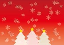 Julbild av träd- och snömissfostret stock illustrationer