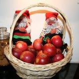 Julbild med svenska äpplen - Ingrid Marie royaltyfri fotografi