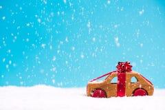 Julbilförsäljning eller gåva, mallbegrepp arkivfoton