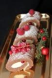Julblockkuchen Stockfotografie