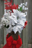 Julblommaordning Royaltyfria Foton