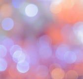 Julbokeh tänder bakgrund fotografering för bildbyråer