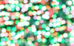 Julbokehbakgrund av ut-av-fokus lampor Arkivbilder