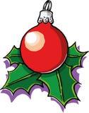 Julboll vektor illustrationer