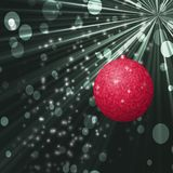 Julboll med backroundtextur Royaltyfri Bild