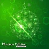 Julboll med bokehbakgrund Arkivbilder