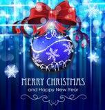 Julboll med bowen Fotografering för Bildbyråer