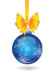 Julboll med den guld- bowen vektor illustrationer