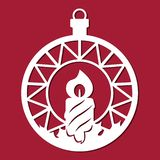 Julboll med en stearinljus royaltyfri illustrationer