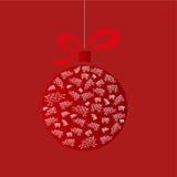 Julboll med får royaltyfri illustrationer