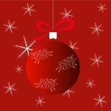 Julboll med tre får stock illustrationer