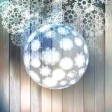 Julboll som göras från snöflingor. EPS 10 Royaltyfri Fotografi