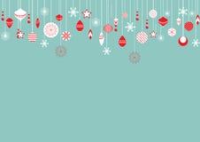 Julbollar stock illustrationer