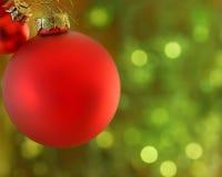 Julbollar royaltyfria bilder