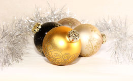 Julbollar i en grupp Arkivfoto
