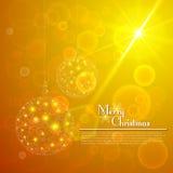 Julbollar med bokehbakgrund Royaltyfri Foto