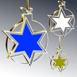 Julbollar med stjärnan stock illustrationer