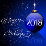 Julbollar och stearinljusljus Royaltyfri Foto