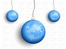 Julbollar på en rad royaltyfri illustrationer