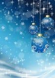 Julbollar på julbakgrunden Royaltyfri Bild