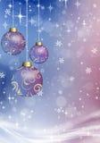 Julbollar på julbakgrunden Arkivbilder