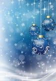 Julbollar på julbakgrunden Arkivbild