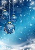 Julbollar på julbakgrunden Royaltyfri Fotografi