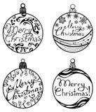 Julbollar som isoleras på vit bakgrund Fotografering för Bildbyråer
