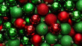 Julbollar som panorerar glidbanan arkivfilmer