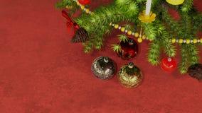 Julbollar under julgranen stock illustrationer