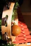Julbollbrons tillsammans med andra ojects arkivfoto