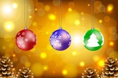 Julbollvektor vektor illustrationer