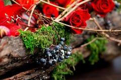 Julbukett av blommor Royaltyfri Fotografi