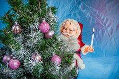 julclaus santa tree Arkivbilder