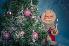 julclaus santa tree Royaltyfri Fotografi