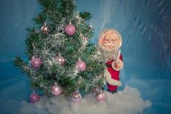 julclaus santa tree Arkivbild