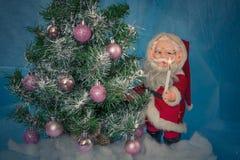 julclaus santa tree Royaltyfri Foto