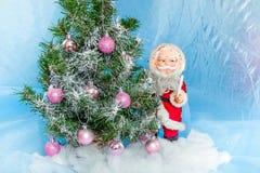 julclaus santa tree Arkivfoto