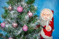 julclaus santa tree Royaltyfri Bild