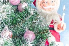 julclaus santa tree Fotografering för Bildbyråer