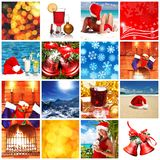 julcollage Royaltyfri Bild