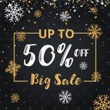 Juldagen och det lyckliga nya året avfärdar försäljningsillustrationbanret Fotografering för Bildbyråer