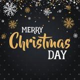 Juldagen och det lyckliga nya året avfärdar försäljningsillustrationbanret Arkivbild